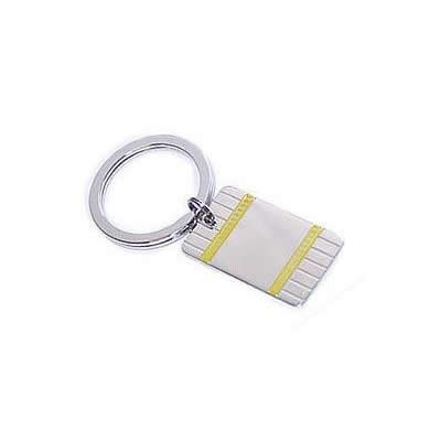 Sterling Silver Key Ring with Gold Accents