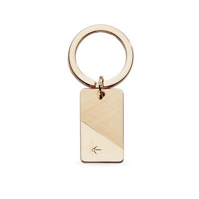 23k Rhodium Electroplated Key Ring