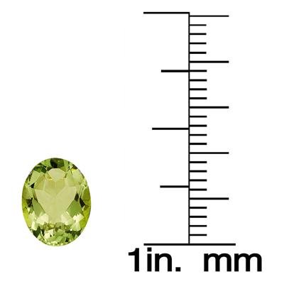 1 3/4 Carat Oval Peridot Gemstone