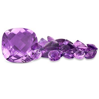 3 1/4 Carat Cushion Cut Amethyst Gemstone