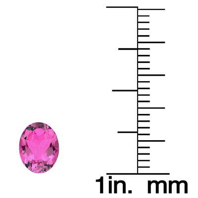 1 1/2 Carat Oval Pink Topaz Gemstone