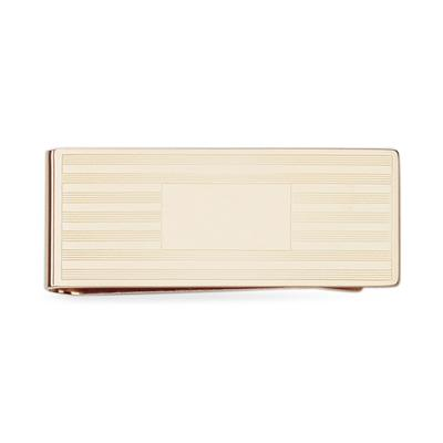 Etched Gold Plated Money Clip