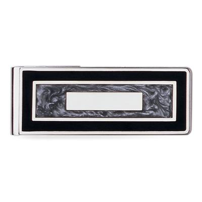 23k Rhodium Electroplated Hinged Money Clip