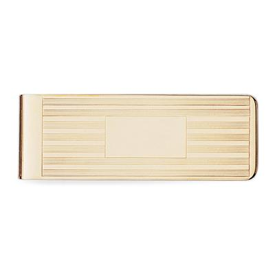 23k Gold Electroplated Hinged Money Clip
