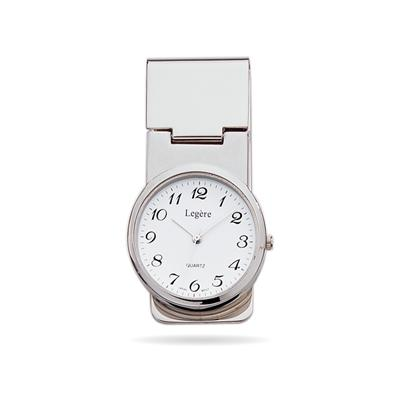 23k Rhodium Electroplated Money Clip Watch
