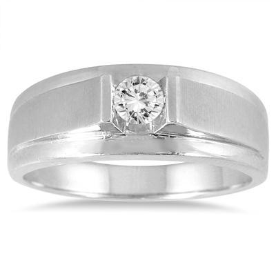 1877d08405238 1 3 Carat Men s Diamond Solitaire Ring in 10K White Gold - MRG56084
