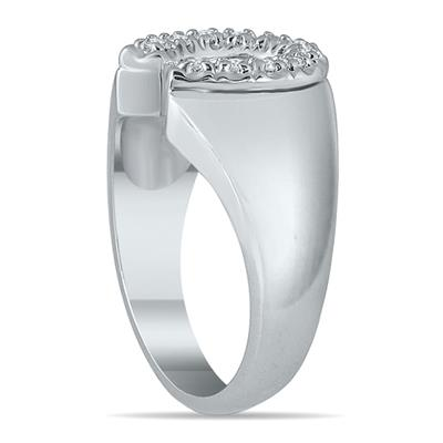 1/4 Carat TW Horseshoe Diamond Men