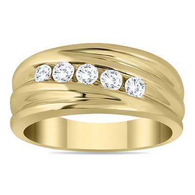 1/2 Carat TW Five Stone Diamond Men