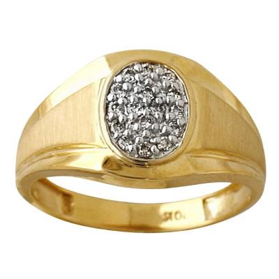.25CTW 10k Yellow Gold and Diamond Men