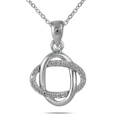 1/4 Carat Genuine Diamond Infiity Pendant in .925 Sterling Silver