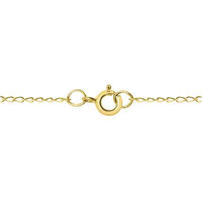 1/10 Carat TW MOM Diamond Heart Pendant 10K Yellow Gold