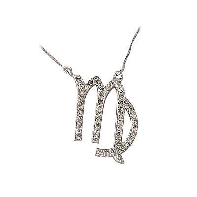 .50ctw Diamond Virgo Zodiac Pendant 14K White Gold (Aug 23 - Sept 22)