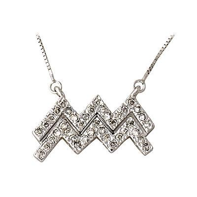2/5 Carat Diamond Aquarius Zodiac Pendant 14K White Gold (Jan 20 - Feb 18)
