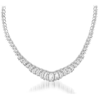 1.00 Carat Genuine Diamond Necklace in .925 Sterling Silver