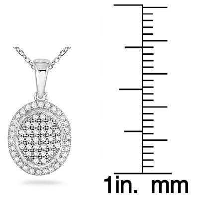1/4 Carat TW Diamond Pendant in 14K White Gold