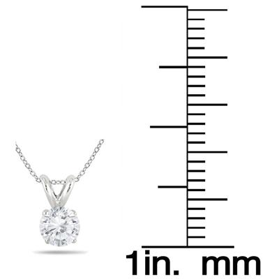 1/3 Carat Diamond Solitaire Pendant in .925 Sterling Silver