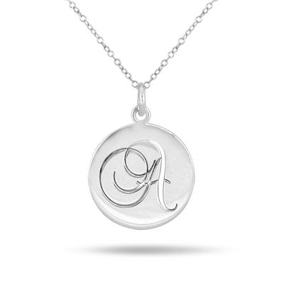 Custom Initial Pendant in .925 Sterling Silver