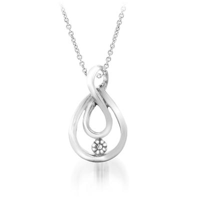 Diamond Accent Pendant in .925 Sterling Silver