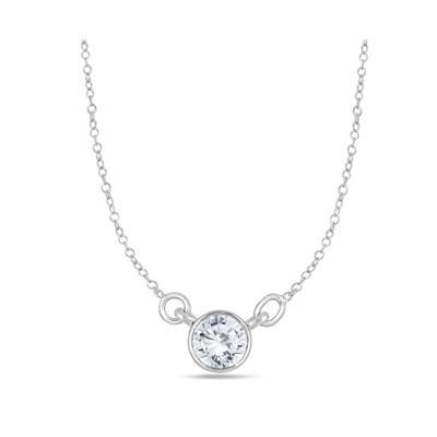 12 carat diamond bezel pendant in 14k white gold pdf55221 12 carat diamond bezel pendant in 14k white gold aloadofball Choice Image