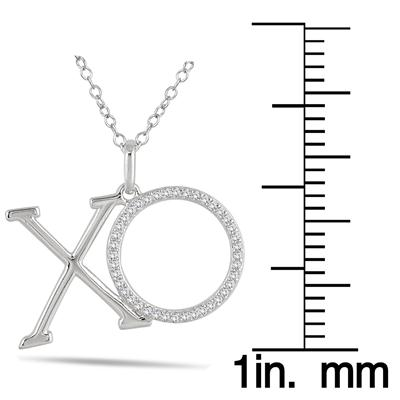 1/4 Carat TW Diamond XO Pendant in 10K White Gold