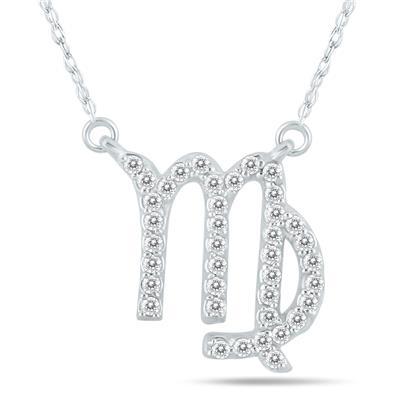 1/3 Carat TW Diamond Virgo Zodiac Pendant 10K White Gold