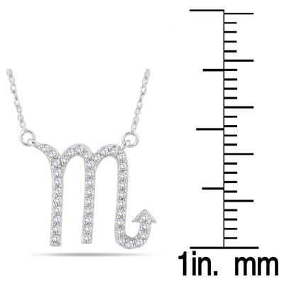 1/3 Carat TW Diamond Scorpio Zodiac Pendant 10K White Gold