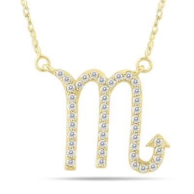 1/3 Carat TW Diamond Scorpio Zodiac Pendant 10K Yellow Gold