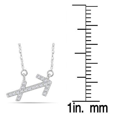 1/6 Carat TW Diamond Sagitarius Zodiac Pendant 10K White Gold