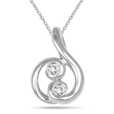 34 carat two stone diamond pendant in 14k white gold pdf562469 34 carat two stone diamond pendant in 14k white gold aloadofball Image collections
