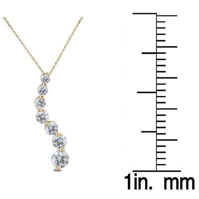 1/4 Carat TW Diamond Journey Pendant in 10K Yellow Gold