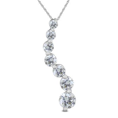 2 Carat TW Diamond Journey Pendant in 14K White Gold (K-L Color, I2-I3 Clarity)