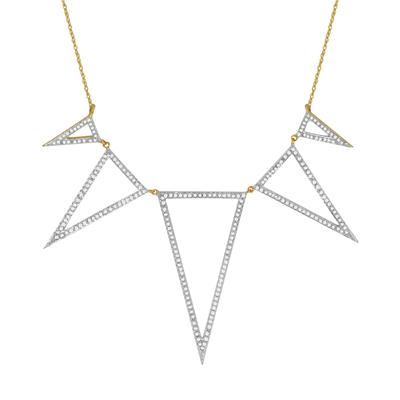 5/8 Carat TW Diamond Necklace in 10K Yellow Gold