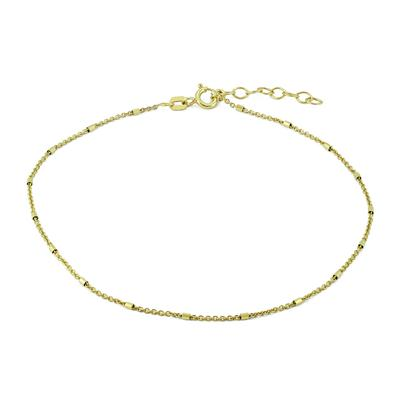 Beaded Anklet in .925 Sterling Silver Yellow Electro Plate
