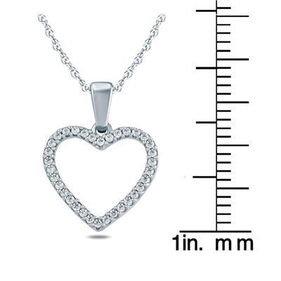 1/6 Carat TW Diamond Heart Pendant in 10K Yellow Gold