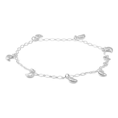 ECLIPSE SPECIAL - Moon Charm Anklet in .925 Sterling Silver