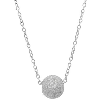 Adjustable Diamond Cut Silver Ball Necklace in .925 Sterling Silver