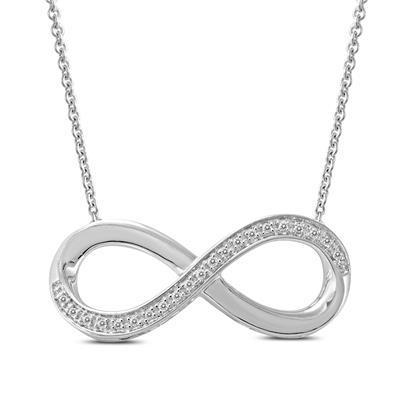 Diamond Infinity Pendant in .925 Sterling Silver