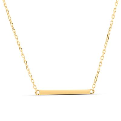 Gold Polished Bar Pendant
