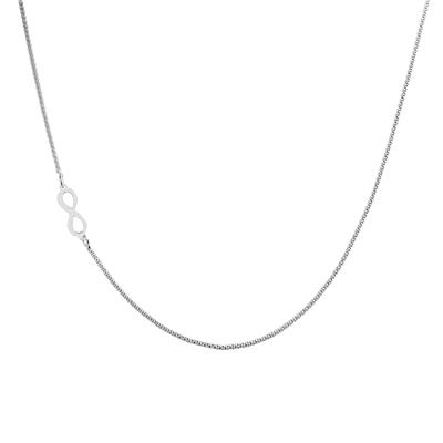 Infinity Rope Necklace in .925 Sterling Silver