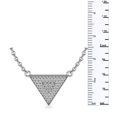 3/8 Carat TW Diamond Triangle Necklace in .925 Sterling Silver