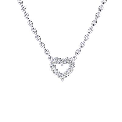 1/3 Carat TW Diamond Heart Necklace in .925 Sterling Silver