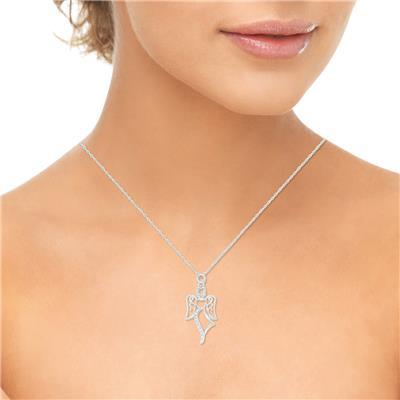 Diamond Accent Angel Necklace