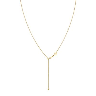 14k Yellow Gold Filled Adjustable .85mm Bolo Box Chain Necklace