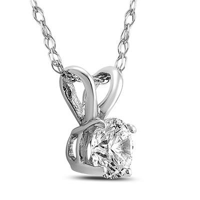 PREMIUM VS QUALITY - 3/4 Carat Diamond Solitaire Pendant in 14K White Gold  (G Color, VS1-VS2 Clarity)