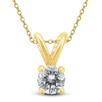 ab8c3397d8535 1/4 Carat (J-K Color, VS1-VS2 Clarity) AGS Certified Round Diamond ...