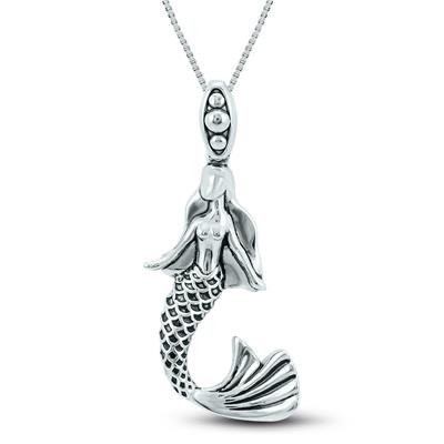 Mermaid Pendant in .925 Sterling Silver