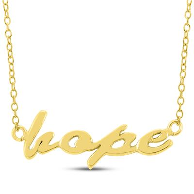 Hope Necklace In Yellow Gold Plated Brass