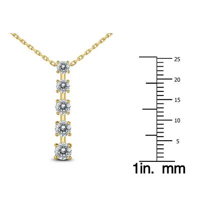 1/2 Carat TW Diamond Journey Pendant in 14K Yellow Gold