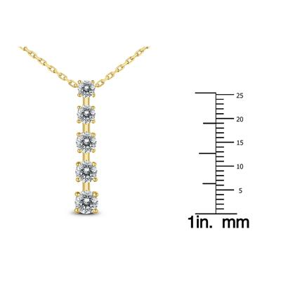 3/4 Carat TW Diamond Journey Pendant in 14K Yellow Gold