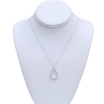 1 Carat TW Diamond Tear Drop Pendant in 14K White Gold